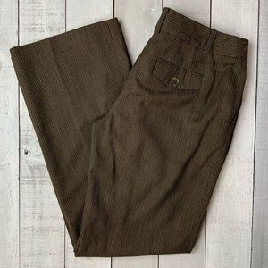 Loft brown striped slacks career dress pants